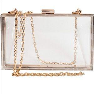 Handbags - Acrylic Transparent Clutch Purse